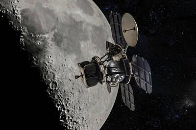 Photograph - Nasa Lunar Orbiter by Erik Simonsen
