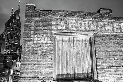 Photograph - Nashville Tennessee In Black And White  by John McGraw