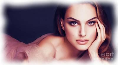 Digital Art - Natalie Portman Portrait by Alexander Del Rey