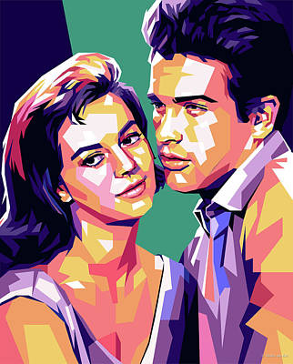 Royalty-Free and Rights-Managed Images - Natalie Wood and Warren Beatty pop art by Stars on Art