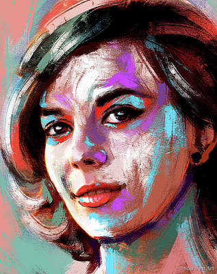 Modern Man Air Travel - Natalie Wood painting by Stars on Art