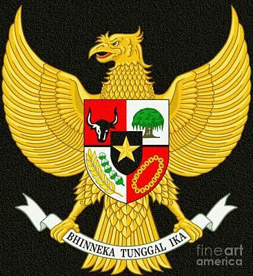 Digital Art - National Emblem Of Idonesia by Ian Gledhill