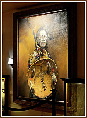 Photograph - Native American Warrior Portrait, Ozarks Heritage Museum by A Gurmankin