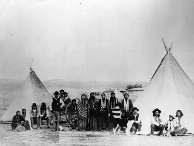 Photograph - Native Indians by Hulton Archive