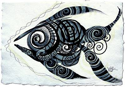 Painting - Nativemmental, Fish 2 by J Vincent Scarpace