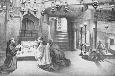 Photograph - Nativity Grotto 19th Century by Munir Alawi