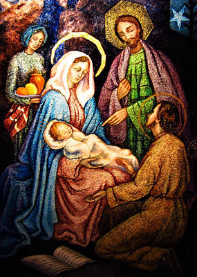 Photograph - Nativity Scene Holy Family by Munir Alawi