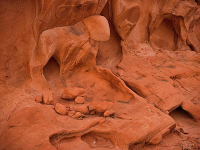 Photograph - Natural Sandstone Human Figure by Leland D Howard