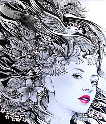 Drawing - Nature de Nouveau by Julie Oakes