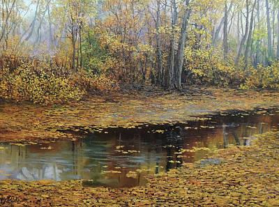 Wall Art - Painting - Nature Gold by Oleg Riabchuk