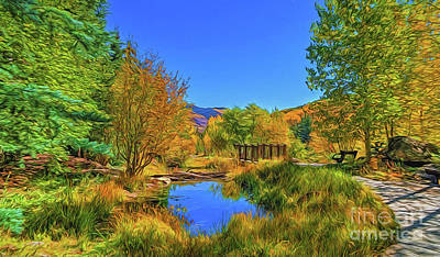 Painting - Nature Hike A18-39 by Ray Shrewsberry