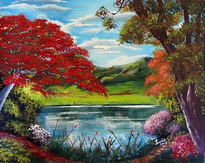Painting - Nature's Colors by Luis F Rodriguez
