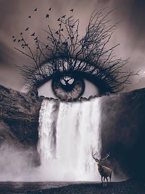 Surrealism Digital Art - Natures eye by Mihaela Pater