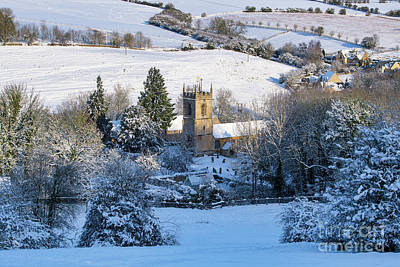 Photograph - Naunton Church In The Cotswolds Winter Snow by Tim Gainey