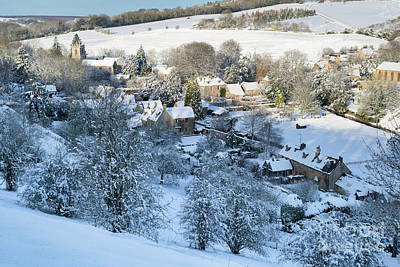 Photograph - Naunton Village In The Cotswolds Winter Snow by Tim Gainey