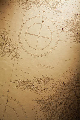 Photograph - Nautical Chart by Malerapaso