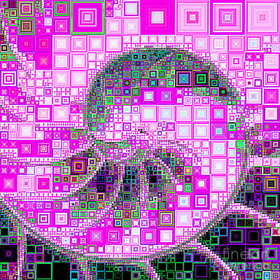 Photograph - Nautilus In Abstract Squares 20190202sqa M100 by Wingsdomain Art and Photography