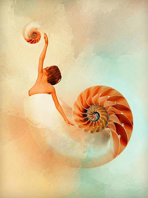 Surrealism Digital Art - Nautilus by Mihaela Pater