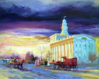 Painting - Nauvoo Storm Coming by David Garrison