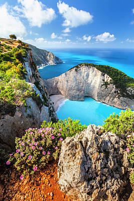 Photograph - Navagio Bay by Evgeni Dinev