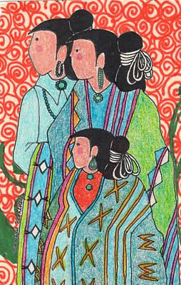Mixed Media - Navajo Colors by Monique Montney