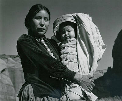 Photograph - Navajo Woman And Infant, Canyon De by Archive Photos