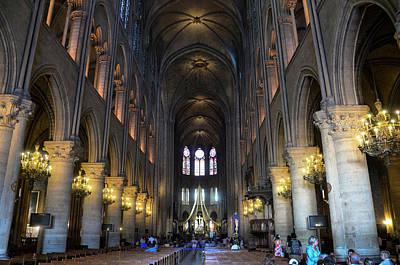 Photograph - Nave Of Notre Dame De Paris Before The Fire Of 2019 by RicardMN Photography
