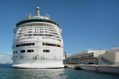 Photograph - Navigator Of The Seas At Dock by Bradford Martin