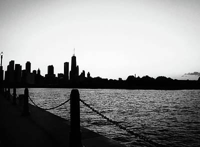 Photograph - Navy Pier Monochrome  by Marilyn Hunt