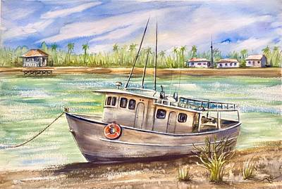 Painting - Near The Harbour 3 by Katerina Kovatcheva