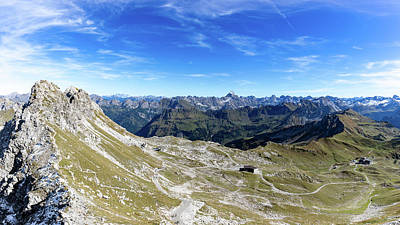 Photograph - Nebelhorn Panorama by Andreas Levi