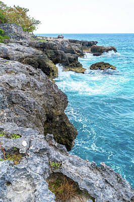 Photograph - Negril Jamaica Cliffs by Debbie Ann Powell