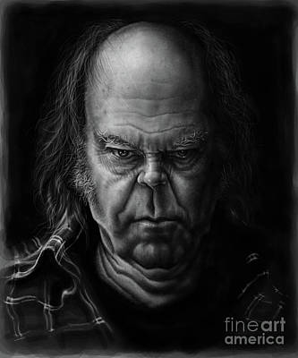 Neil Young Wall Art - Digital Art - Neil Young by Andre Koekemoer