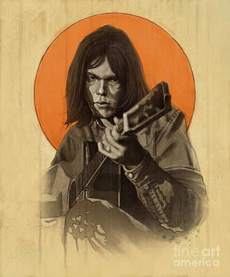 Neil Young Wall Art - Digital Art - Neil Young Harvest by Andre Koekemoer