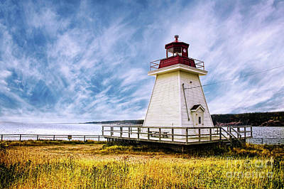 Photograph - Neils Harbour Lighthouse by Scott Kemper
