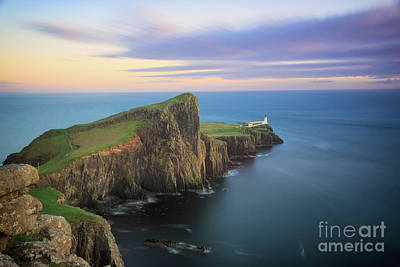 Photograph - Neist Point Lighthouse On Skye At Sunset by IPics Photography