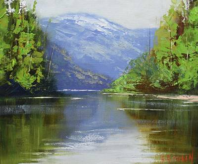 Coy Fish Michael Creese Paintings - nekite River Canada by Graham Gercken