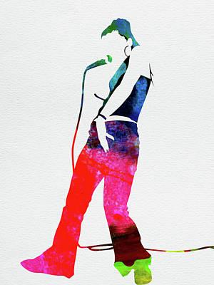 Rock Band Wall Art - Mixed Media - Nelly Furtado Watercolor by Naxart Studio