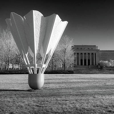 Photograph - Nelson Atkins Art Museum In Infrared - Kansas City - Square by Gregory Ballos