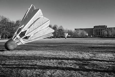 Photograph - Nelson Atkins Museum Shuttlecock Sculptures - Monochrome Edition by Gregory Ballos