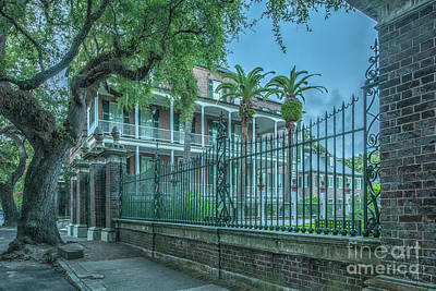 Photograph - Neoclassical Single House - Charleston South Carolina by Dale Powell