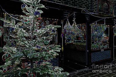 Photograph - Neon Christmas Market by Marina Usmanskaya