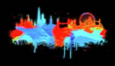 Digital Art - Neon London by Dan Sproul