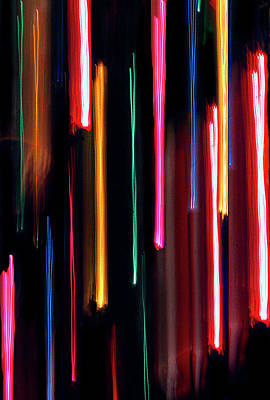 Photograph - Neon Rain by Jeff Brunton