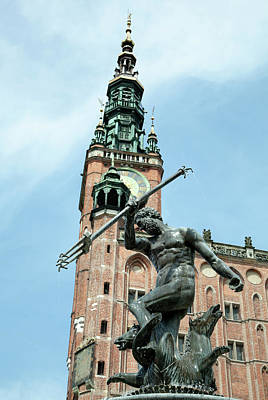 Photograph - Neptune And Gdansk Town Hall by Ramunas Bruzas