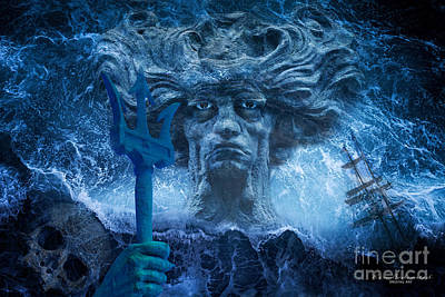 Photograph - Neptune by Kira Bodensted