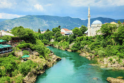 Islam Wall Art - Photograph - Neretva River In Mostar by Kelly Cheng Travel Photography