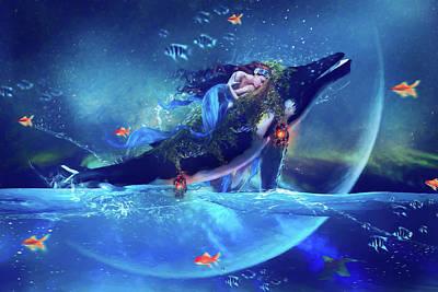 Digital Art Royalty Free Images - Nerieds Dream Royalty-Free Image by Karen Koski