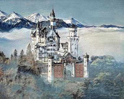 Digital Art - Neuschwanstein Castle 2 by Pennie McCracken