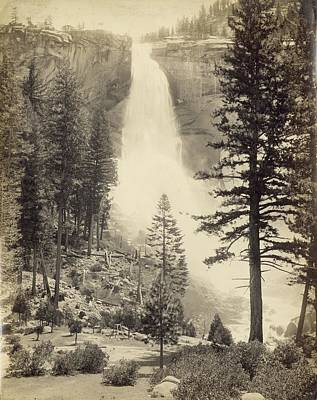 Photograph - Nevada Fall by Carleton E. Watkins